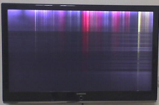 液晶电视故障图: 花屏(液晶屏坏)